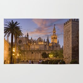 Seville, The Cathedral at dusk Rug