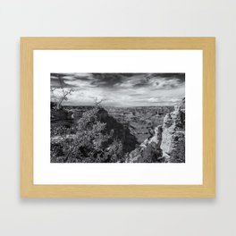 Grand Canyon No. 7 bw Framed Art Print