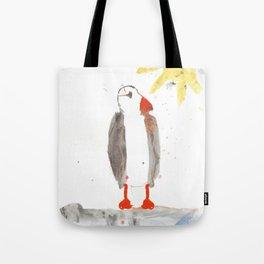 PUFFIN WATERCOLOR NAIVE PAINTING Tote Bag