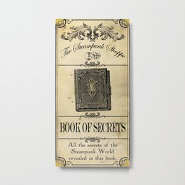 Steampunk Apothecary Shoppe - Book of Secrets Metal Print