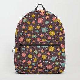Purple Pastel Daisy Flowers Backpack