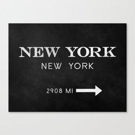 black watercolor new york new york Canvas Print