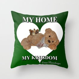 My Home, My Kingdom - Green Throw Pillow