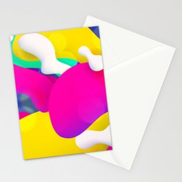 Artistic Colorful Paint Splashes Stationery Cards