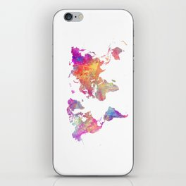 Map of the world #map #world iPhone Skin