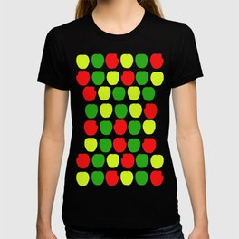 Summer Apple Picking Green, Red and Yellow T-shirt