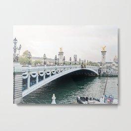 Paris Pont Alexandre Bridge Metal Print