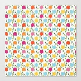 Tulips pattern Canvas Print