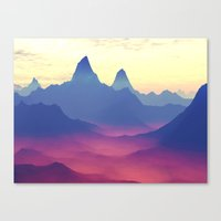 ashton irwin Canvas Prints featuring Mountains of Another World by Phil Perkins