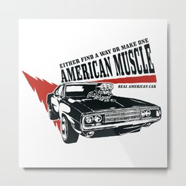 Real American Car Metal Print