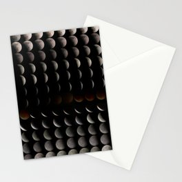 Super Moon, Blood Moon, Total Lunar Eclipse timelapse showing all phases Stationery Cards