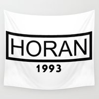 niall horan Wall Tapestries featuring HORAN 1993 by Jana S.