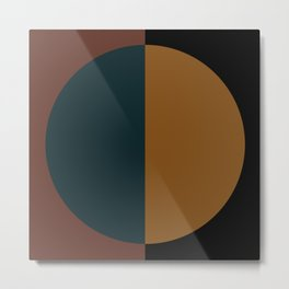 Color Block Abstract XI Metal Print