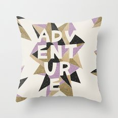 adventure love Throw Pillow