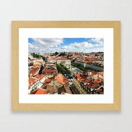 Praca Rossio, Lisbon from Above Framed Art Print