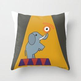 eye.lephant Throw Pillow