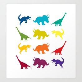 Dino Parade Art Print