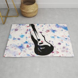 Rock n Roll Guitar No.7 by Kathy Morton Stanion Rug