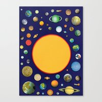 solar system Canvas Prints featuring Solar System by Ben Giles