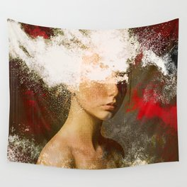 The woman without look Wall Tapestry
