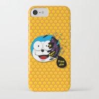doraemon iPhone & iPod Cases featuring Doraemon dead by pexkung