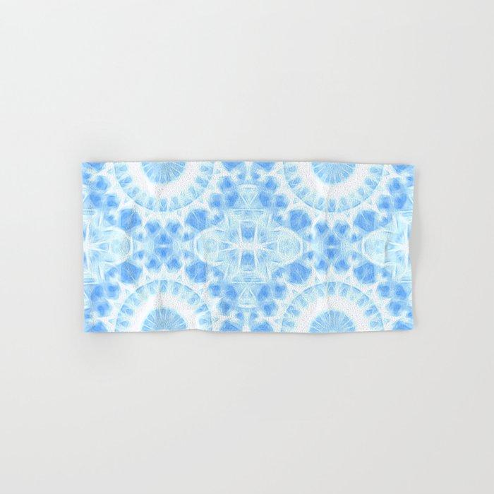 Peaceful blue mandala Hand & Bath Towel