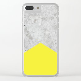 Concrete Arrow Yellow #193 Clear iPhone Case