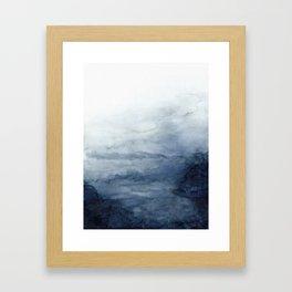 Indigo Abstract Painting   No.2 Gerahmter Kunstdruck