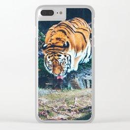 Sunrise Waterhole Clear iPhone Case
