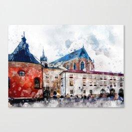Cracow art 21 #cracow #krakow #city Canvas Print