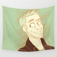 dean winchester Wall Tapestries featuring Dean by The Art of Nicole