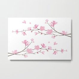 Cherry Blossom - Transparent Background Metal Print