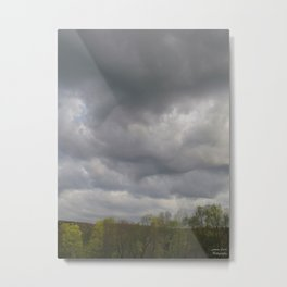 Overhead Clouds Metal Print