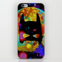 bat iPhone & iPod Skins featuring BAT by Saundra Myles
