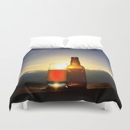 Beer and the Birds Duvet Cover