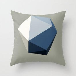 Minimal Geometric Polygon Art Throw Pillow