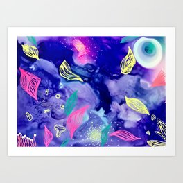 Sea-ing Neon Art Print