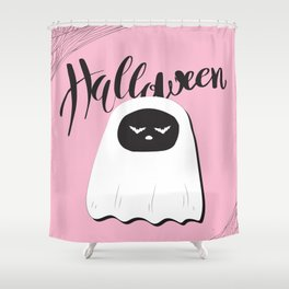 halloween pink Shower Curtain