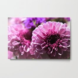 Pinky Purple Bouquet of Flowers by Reay of Light Photography Metal Print