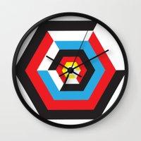 bauhaus Wall Clocks featuring Bauhaus by liz williams