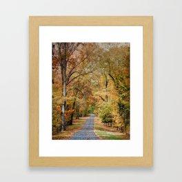 Autumn Passage 2 - Fall Landscape Scene Framed Art Print