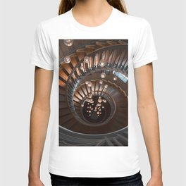 Spiral Stairs in Downtown London T-shirt