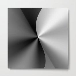 Black & Silver Metallic Geometric Design Metal Print