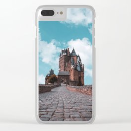 Burg Eltz Castle Germany Up in the Clouds Clear iPhone Case