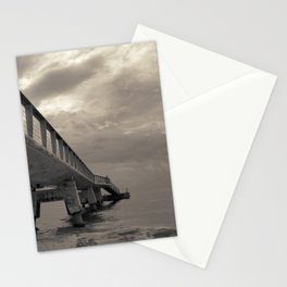 Cloudy Sea Pier Stationery Cards