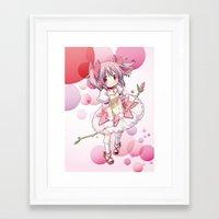 madoka Framed Art Prints featuring Madoka Kaname by Yue Graphic Design