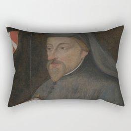 Vintage Geoffrey Chaucer Portrait Painting Rectangular Pillow