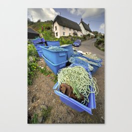 Fishing paraphernalia at Cadgwith Cove   Canvas Print