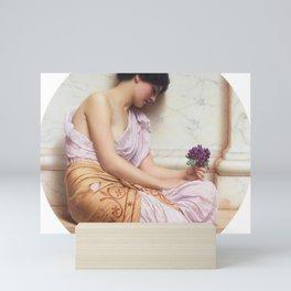 John William Godward - Violets, Sweet Violets Mini Art Print