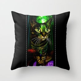 Cat Models: Chazzie Throw Pillow